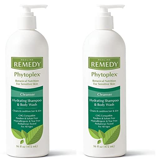 Medline Remedy with Phytoplex Hydrating Cleansing Gel, 16 Fluid Ounce (Packaging may vary), 2 Pack