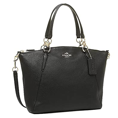 ef19f7c062 Coach 36625 Pebble Leather Small Kelsey Satchel Black  Handbags ...