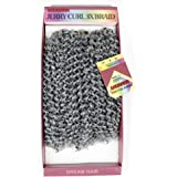 YXCHERISHAIR 10inch 3PCS/LOT,Synthetic Jerry Curl Weave Deep Wave Mambo Twist Crochet Braids with Kanekalon Fiber Heat Resistant Freetress Ombre Braiding Hair Extensions (10 inch 1 Pack, Gray)