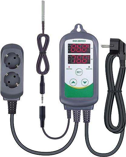 Inkbird ITC-308S Digitale Temperaturregler Thermostat mit 1,97″ Klinkenstecker NTC Temperatur Sonde