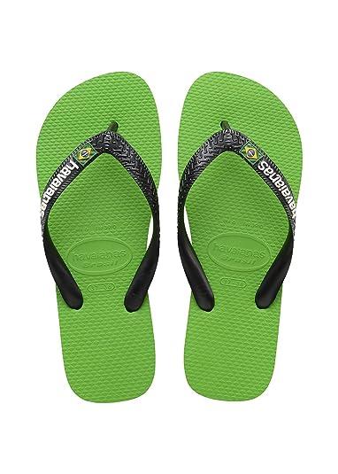 Havaianas Unisex-Erwachsene Zehentrenner Mehrfarbig (Green Neon/Black 6775) 37/38 EU (35/36 Brazilian)