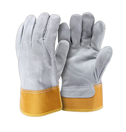 CPTDCLu0027s Cowhide Rose Thorn Proof Safety Work Gardening Gloves Leather  Pruning Landscaping Gloves Driver Gloves,