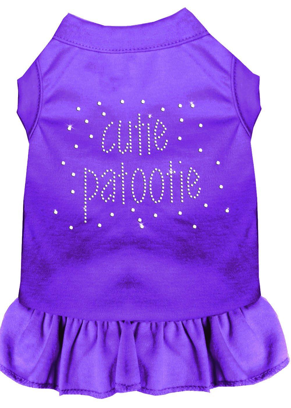 Mirage Pet Products Rhinestone Cutie Patootie Dress, Small, Purple