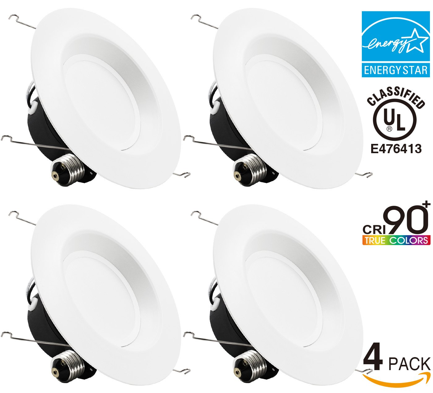 Quiet Box Recessed Lighting : Pack w inch high cri dimmable retrofit led recessed