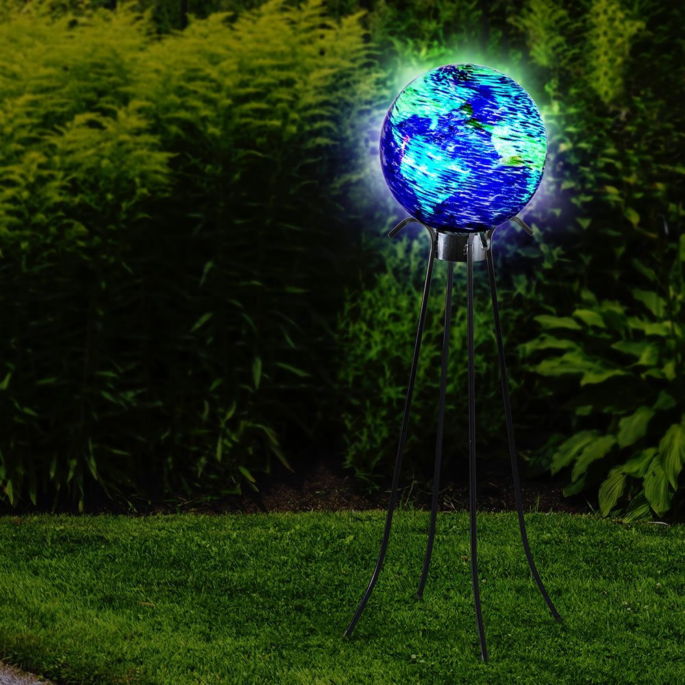 The 10'' Glowing Garden Globe with 25'' Stand