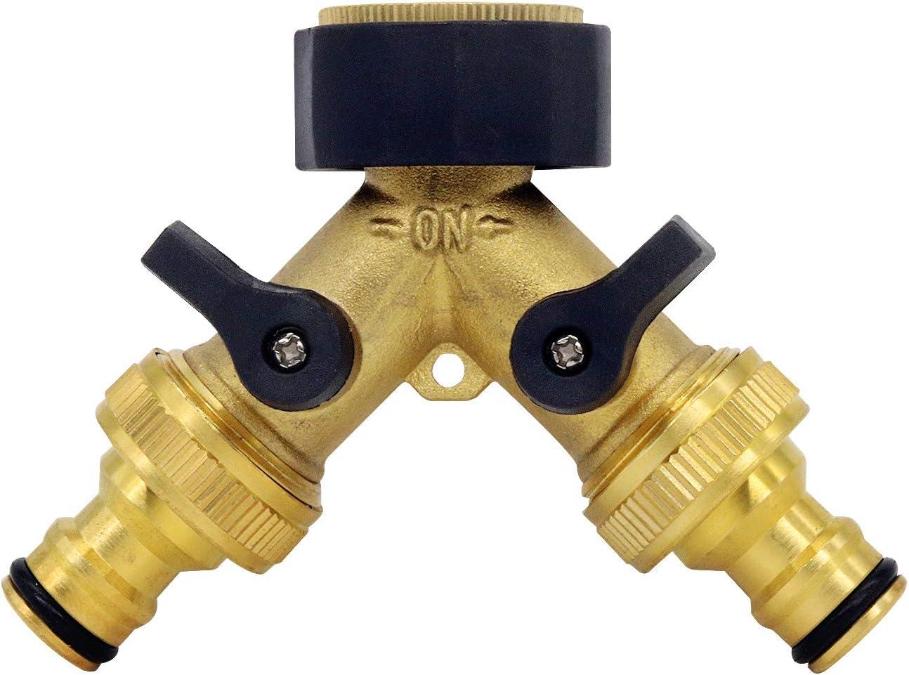 CT 2 Pack Gartenschlauch Messing Kugelhahn 3//4  Gewinde Hochleistungs-Wasserschlauchanschluss Absperrkugelhahn-Wasserhahnschlauchadapter