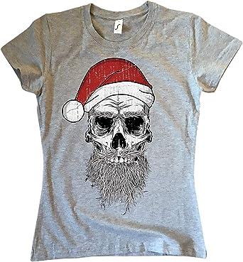 NG articlezz Camiseta de Señoras Santa Calavera Navidad Calavera Bad Divertida Tallas S-XXL: Amazon.es: Ropa y accesorios