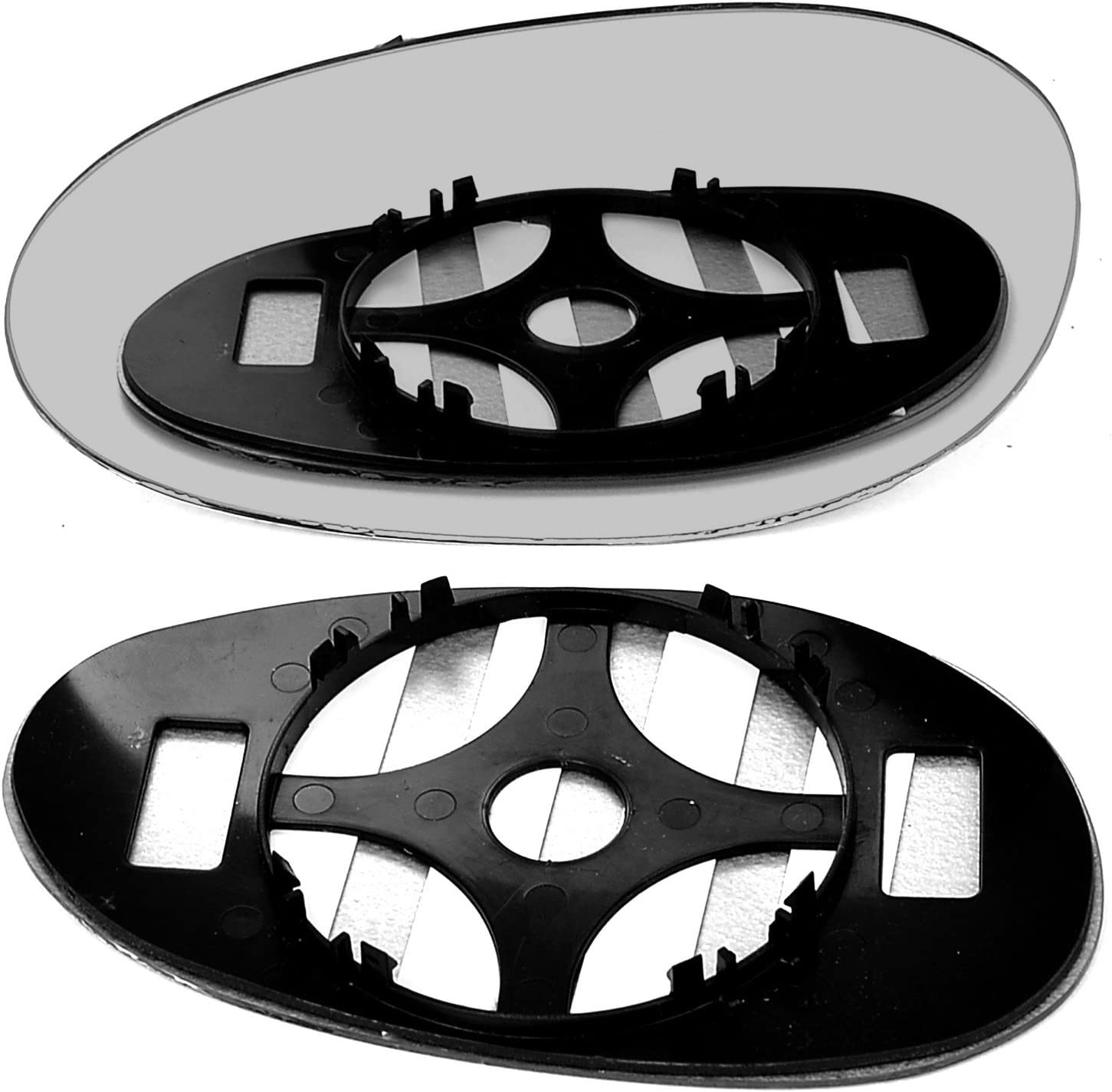 passenger side wing door clip on mirror glass Left hand