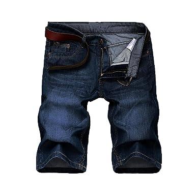 3e12a0eca1155 Futtle Men s Short Jeans Casual Light Weight Slim Fit Relax Regular Comfort  Travel Denim Biker Half Pants at Amazon Men s Clothing store