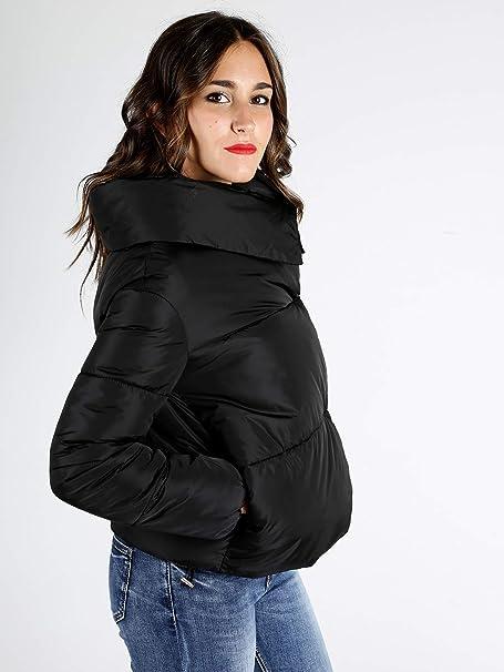 08fc24b0b617 SOLADA Giubbino Nero Imbottito Donna Mix: Amazon.it: Abbigliamento