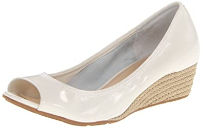Cole Haan Women's Air Tali OT 40 Wedge Pump,Ivory Patent Jute,10 B