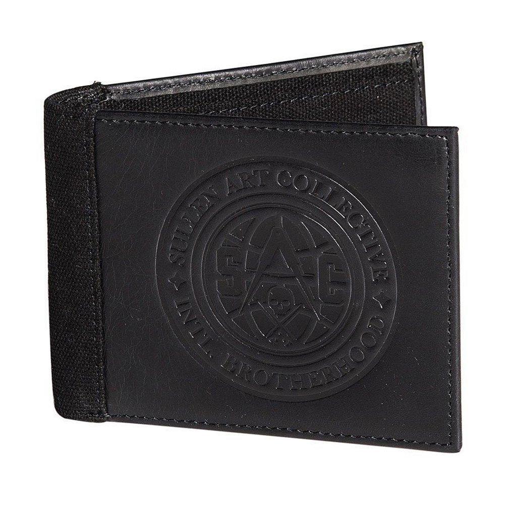 Sullen Men's Globe Leather Bifold Wallet Black