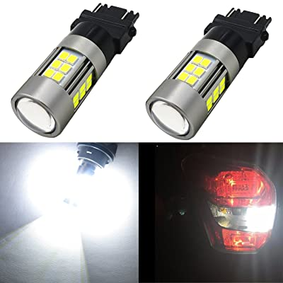 Alla Lighting 2pcs Super Bright 1000 Lumens 6000K White 3156 3157 3056 3156K 3157K 3057 3047 4114K 4114 LED Bulbs High Power New 3035 27-SMD LEDs for Replacing the Back-Up Reverse Light Lamps: Automotive
