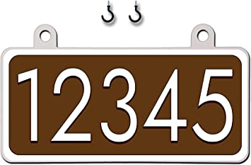 Hanging Mailbox Address Sign Gold Highly Reflective Double Sided