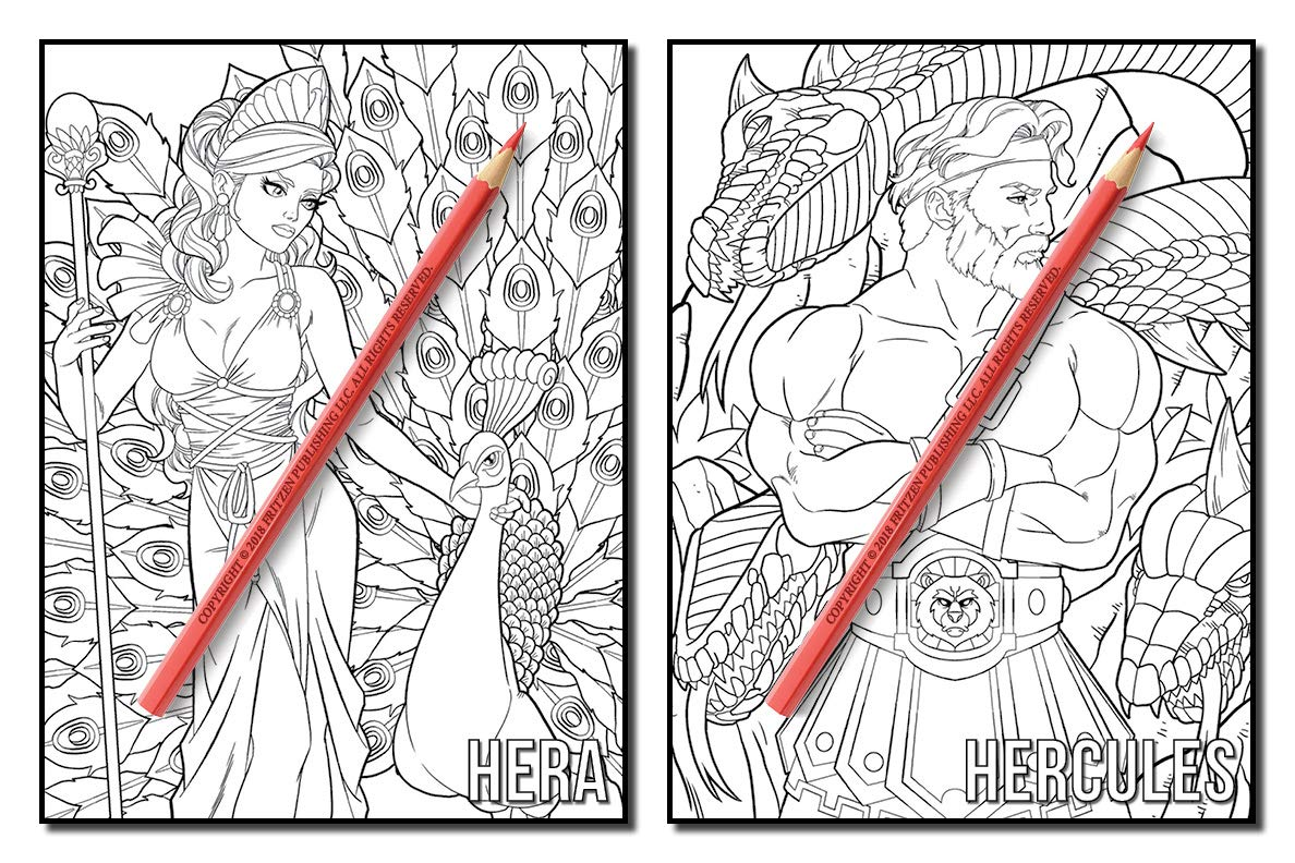 Greek Gods And Goddesses Coloring Pages Free - Coloring Home | 792x1188