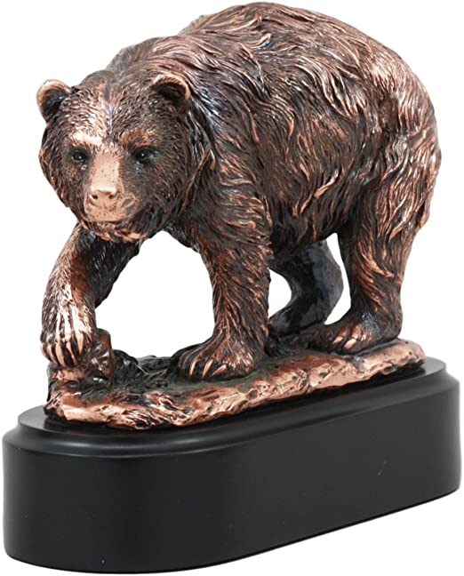 Bear Faux Wood Carving Figure Statue NEW Wildlife Brown Black Grizzly Polar Walk