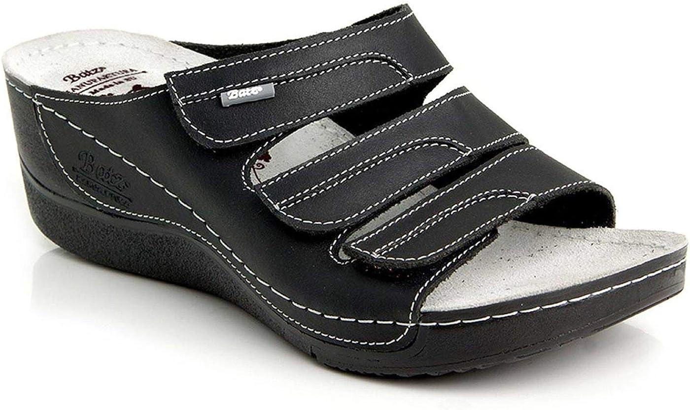 Batz Olga Sandalias Zuecos Zapatillas Zapatos de Cuero Mujer