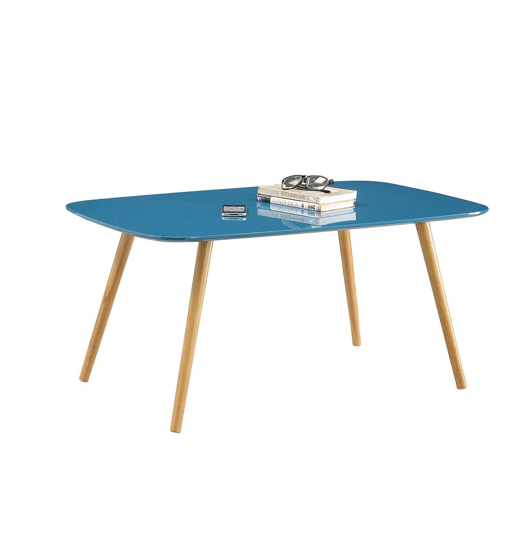 amazon com convenience concepts oslo coffee table blue piano