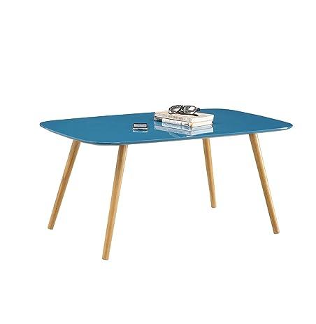 Convenience Concepts Oslo Coffee Table, Blue Piano Finish