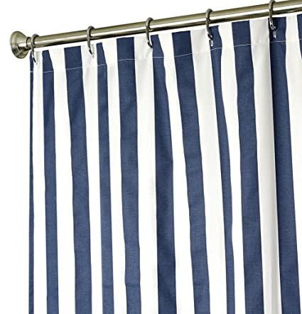 Extra Long Shower Curtain Fabric Curtains Blue And White Striped 84 Inch