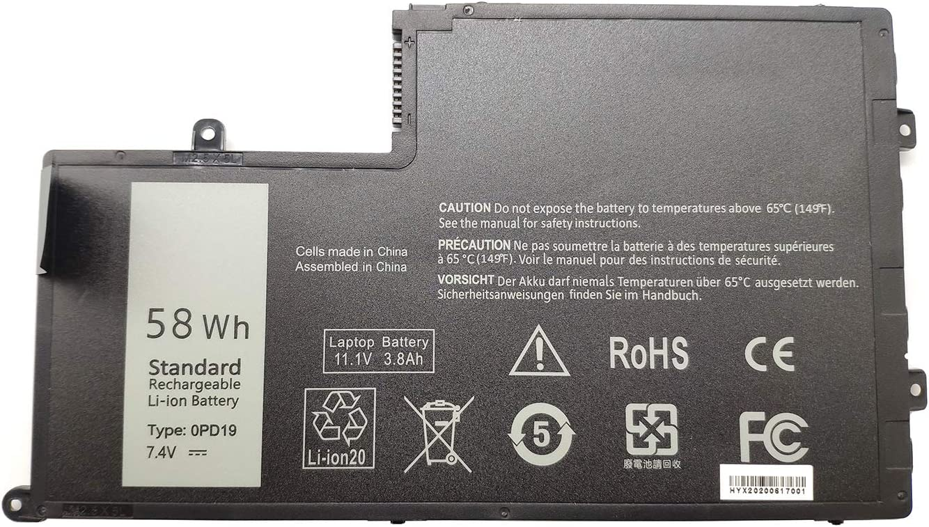 Binger New TRHFF Replacement Laptop Battery for Dell Inspiron 14-5447 15-5547 Maple 3C, Dell Inspiron 15 5445 5448 5545 5548 P/N: TRHFF 1V2F6 prr13g01 01V2F6 Dl011307 0PD19(7.4V 58WH)