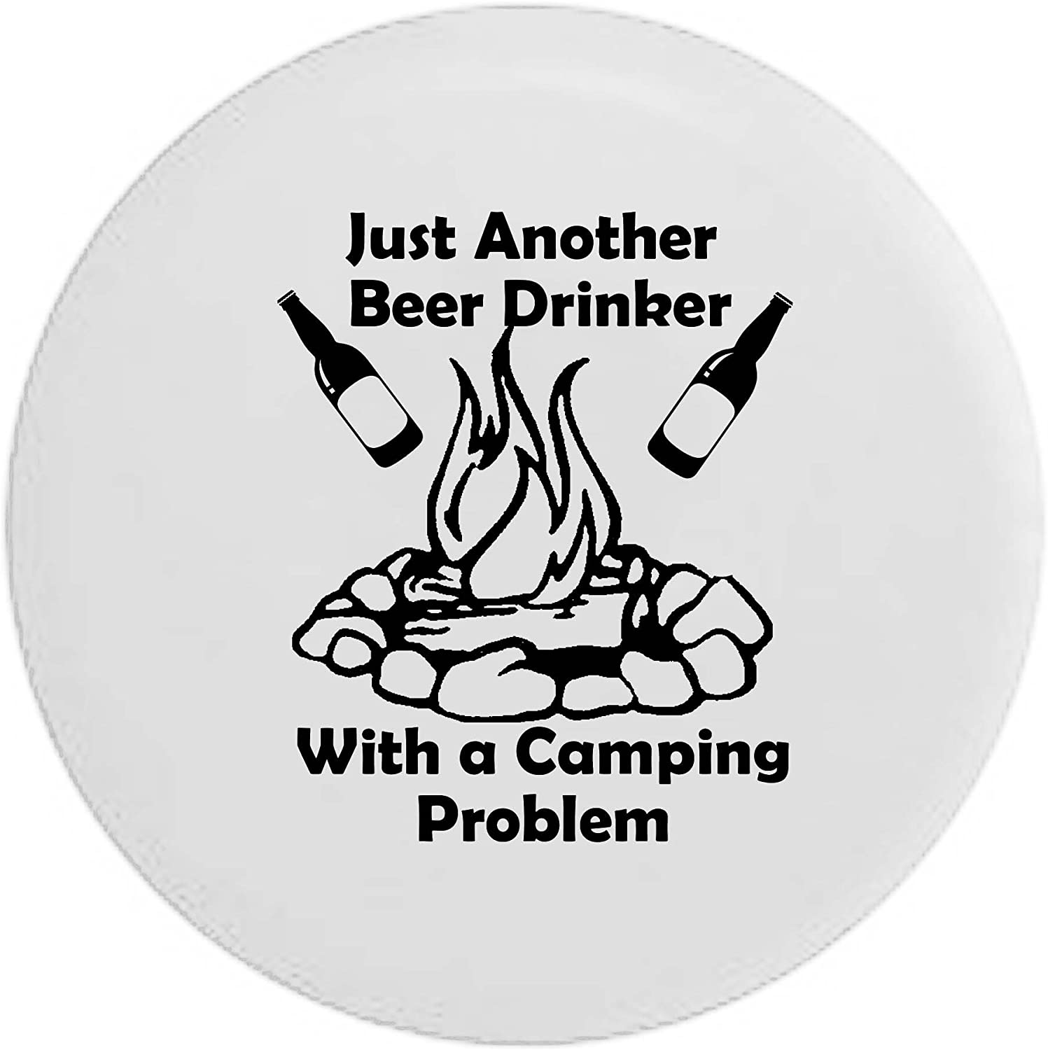 Pike Outdoors Just Another Wine Drinker with a Camping Problem Campfire Camping RV Spare Tire Cover OEM Vinyl Black 29 in