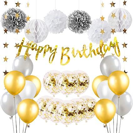 Amazon.com: Decoración para fiesta de cumpleaños para ...