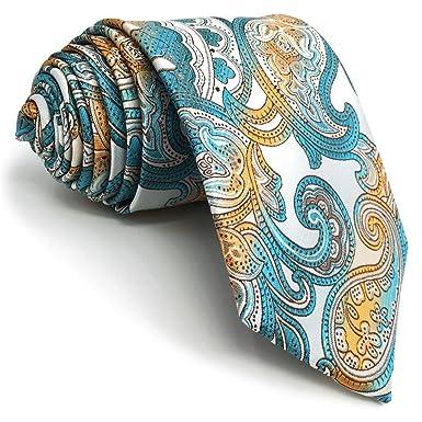 shlax&wing Traje De Negocios Hombre Seda Corbatas Para Multicolor ...
