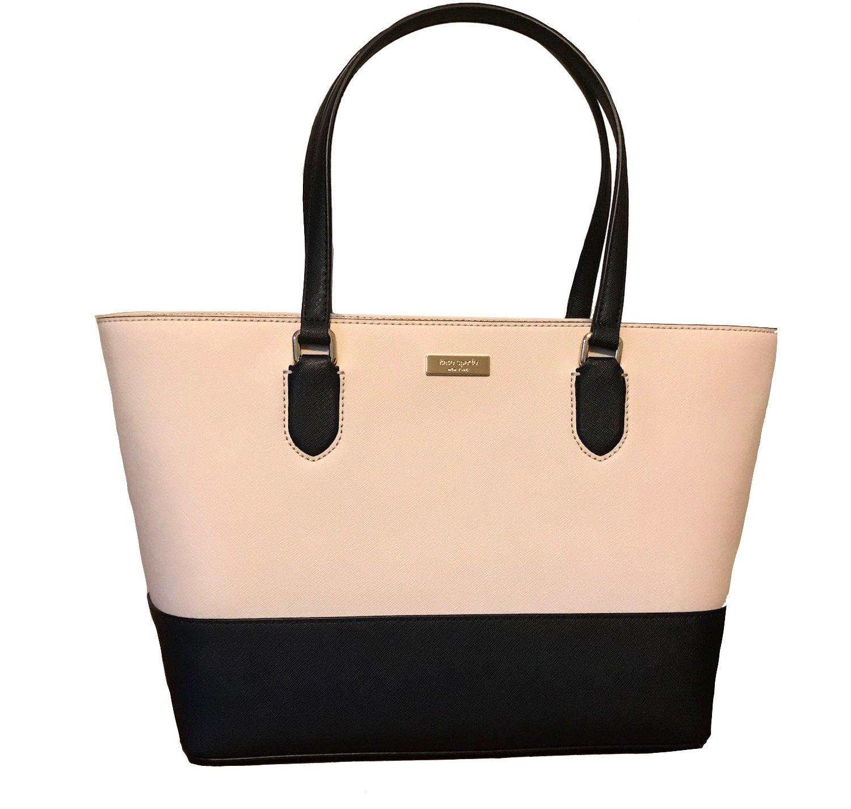 Kate Spade New York Medium Dally Laurel Way Tote Bag (Sftpor/Black)