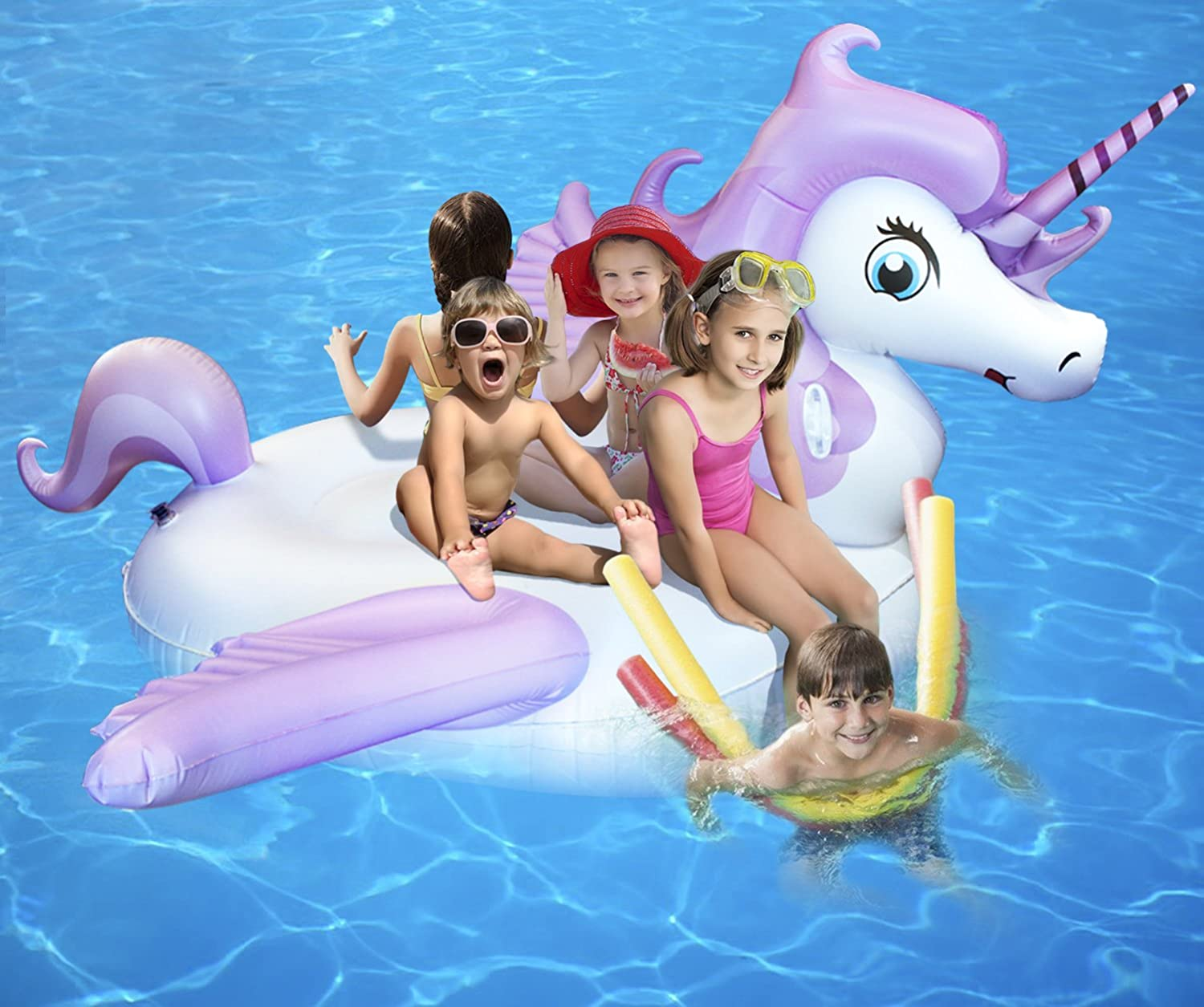 Inflatable Outdoor Swimming Pool Unicorn Float Raft Lounger