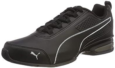 1b158ce54 Puma Unisex's Black Silver Running Shoes-9 UK/India (43 EU ...