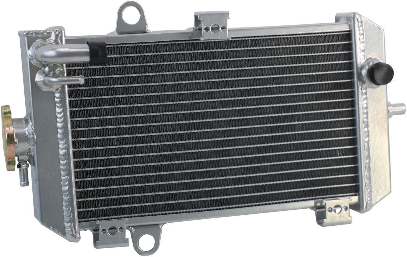 ALLOYWORKS 2 Row Aluminum Radiator For 2006-2014 Yamaha Raptor 700 YFM700 2007 2008 2009 2010