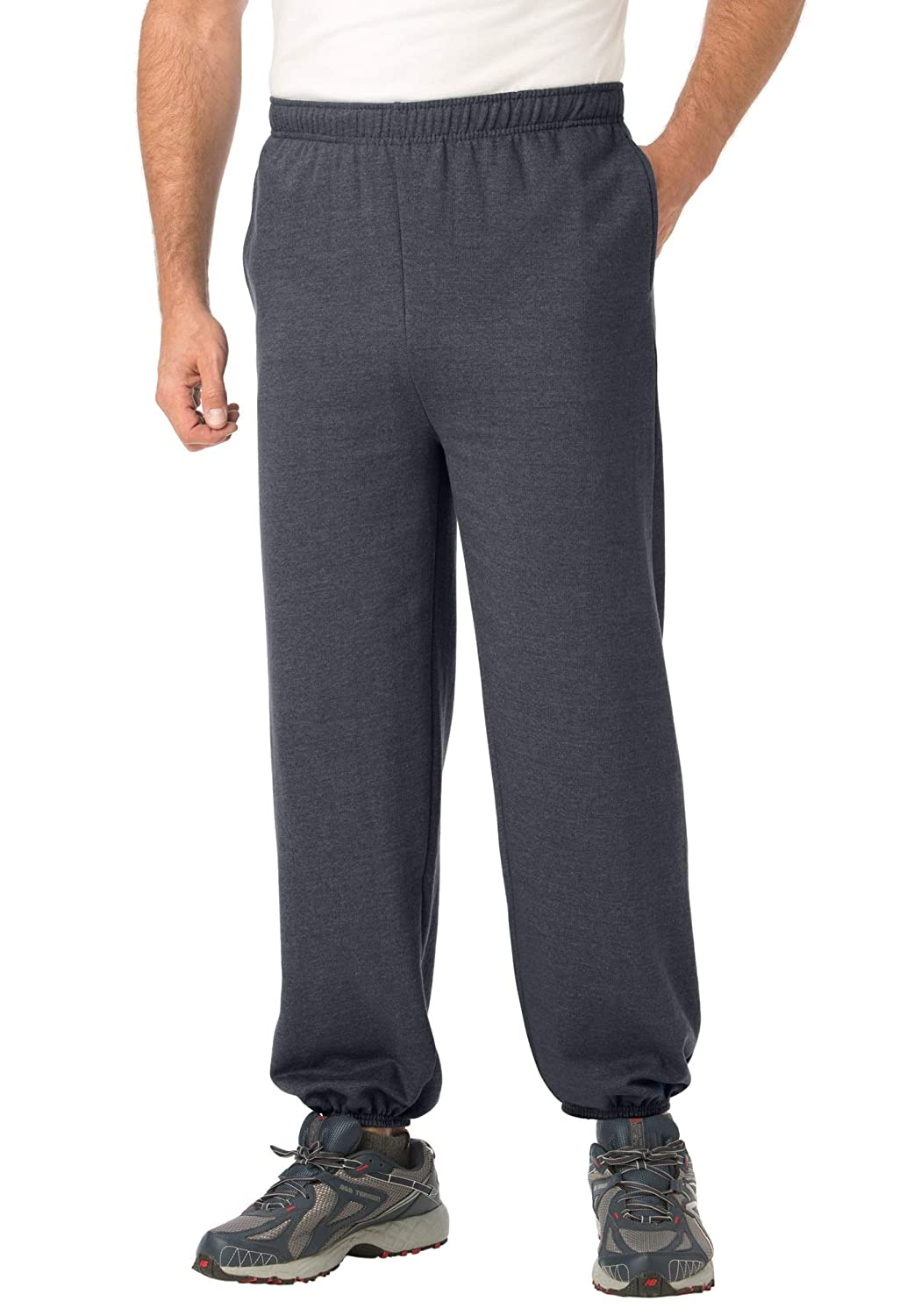 KingSize Men's Big & Tall Fleece Sweatpants With Elastic Cuff