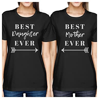 91bf42b6 365 Printing Best Daughter & Mother Ever Black Mom Daughter Cute Matching  Tops