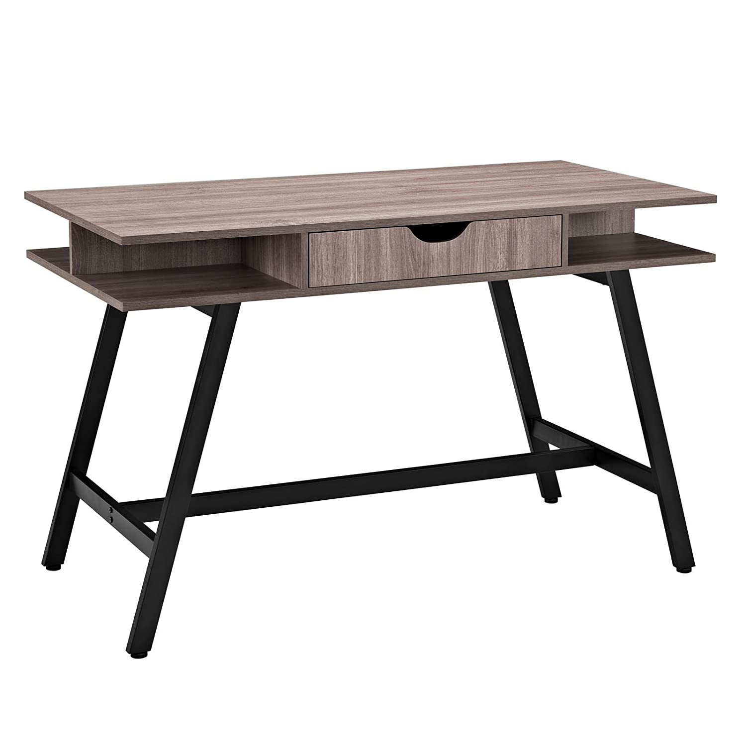 Amazoncom Modway Turnabout Desk Birch Kitchen Dining - Contemporary writing desk furniture