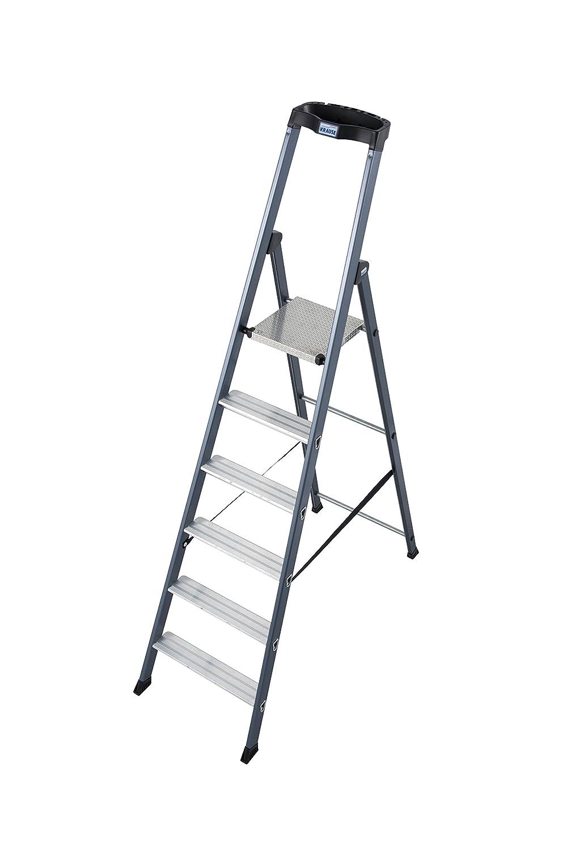LDA203 Escalera de Tijera Anodizada con 6 Peldaño, 3.3 m Altura de Escalera, 1.9 m Altura Escalera, 1.3 m Altura Último Peldaño: Amazon.es: Industria, empresas y ciencia