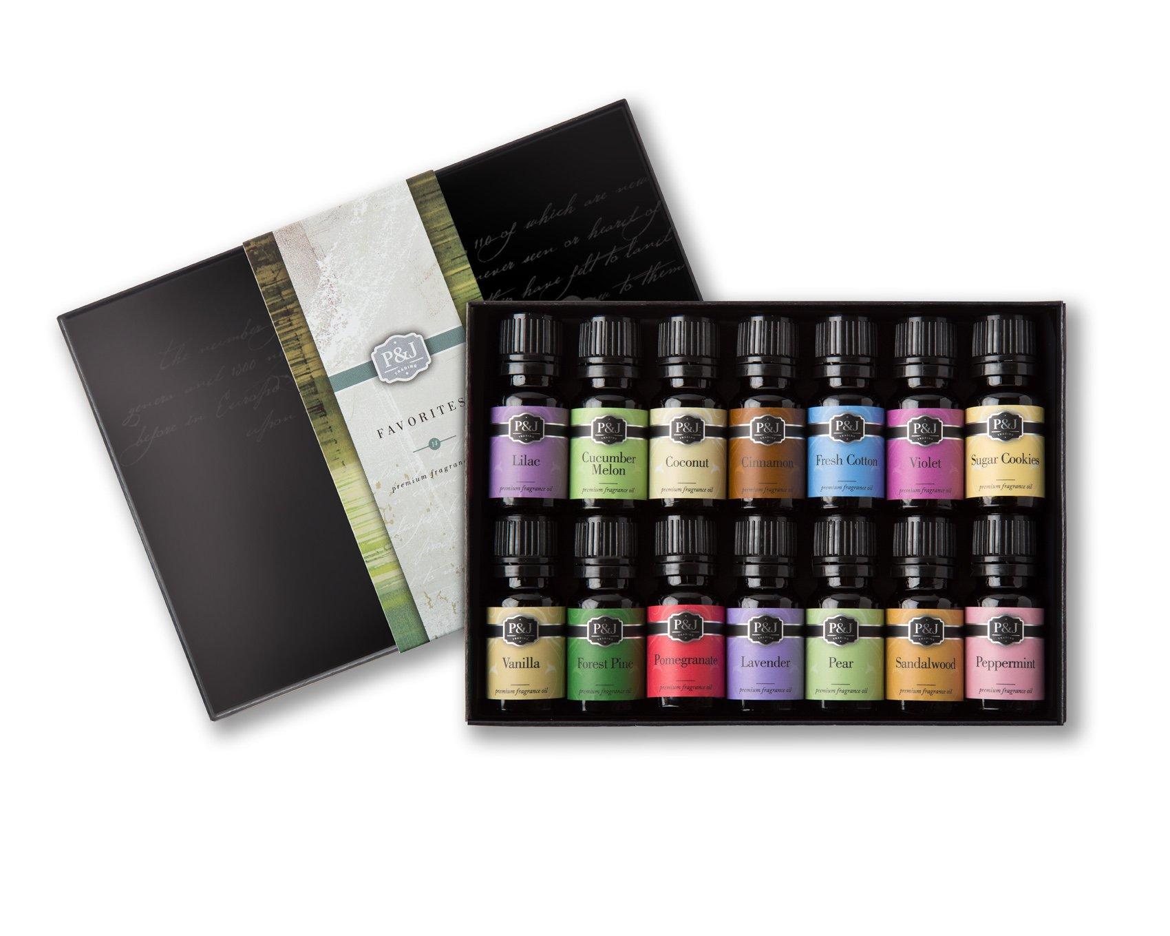 P&J Trading Favorites Set of 14 Premium Grade Fragrance Oils - 10ml by P&J Trading