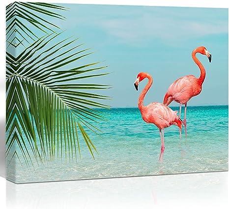 Birds art Flamingo Pink Art Wild nature Home Decor Wall Art Living Room Wall Decor Canvas Prints