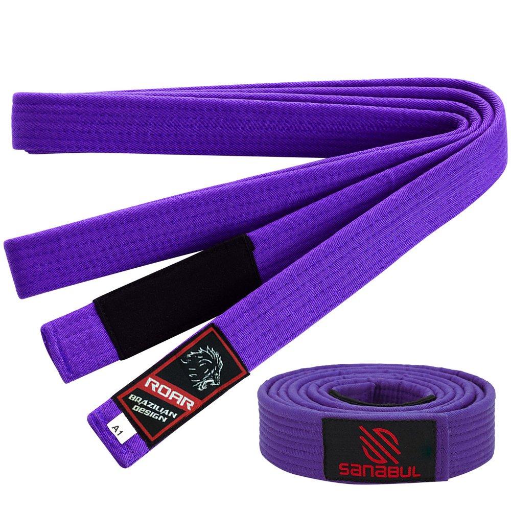 Roar Jiu Jitsu Gi Belt 100/% Cotton All Adult Sizes /& Colors