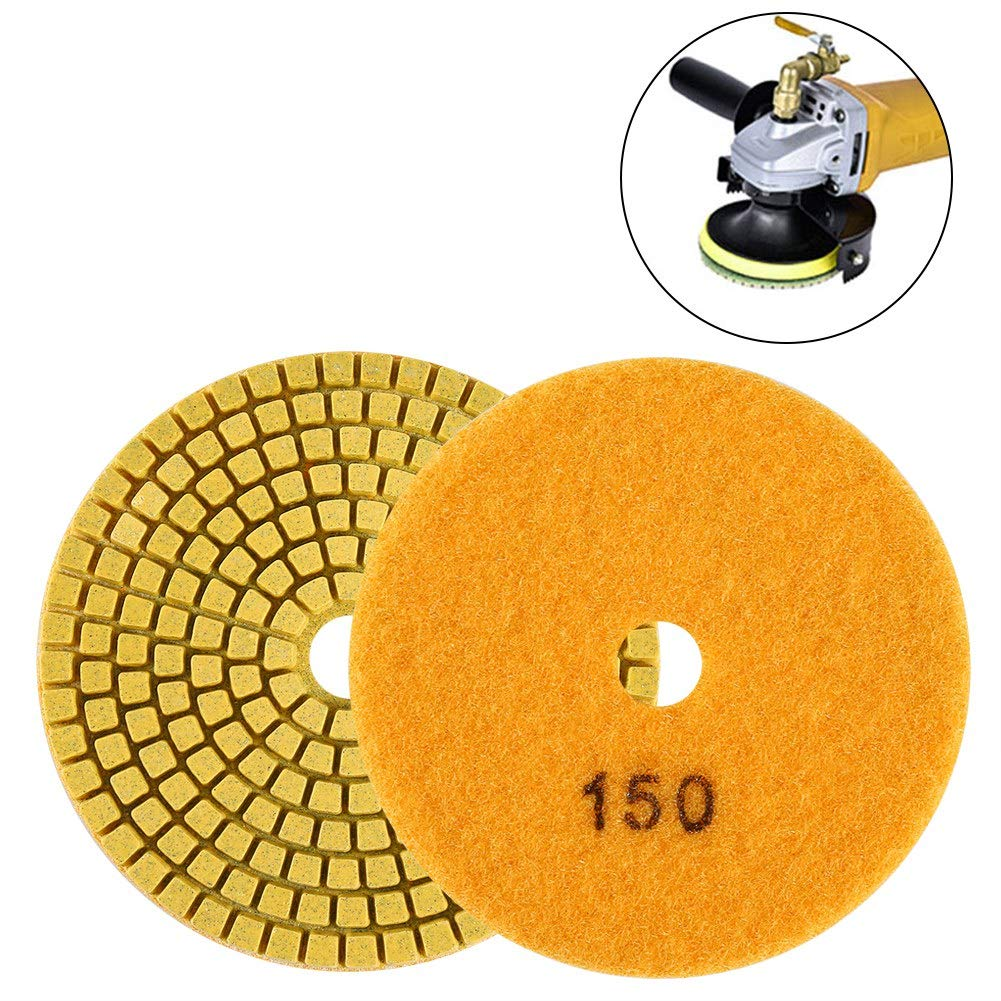 1500 Akozon Grinding Wheel 100mm 4 Wet Diamond Grinding Disc Polishing Pad for Granite Marble Stone
