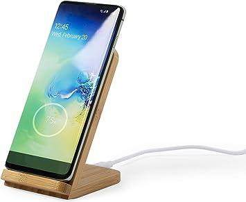 MKTOSASA - Cargador inalámbrico de línea Nature con función Soporte para móvil. Indicador Luminoso de Estado de Carga y Cable incluidos: Amazon.es: Electrónica