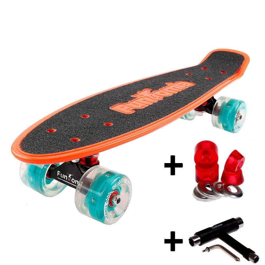 orange mit LED Rollen + T-Tool + weichen Lenkgummis