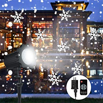 Christmas Projector Lights Outdoor, LED Snowflake Snowfall Waterproof  Projection Lights with Remote Sparkling Landscape Decorative - Amazon.com: Christmas Projector Lights Outdoor, LED Snowflake