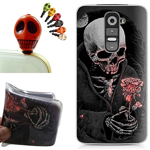 4 opinioni per LG G2 Custodia,LG G2 Cover, Gallery88 [Tappi Anti-polvere] Custodia in TPU Gel
