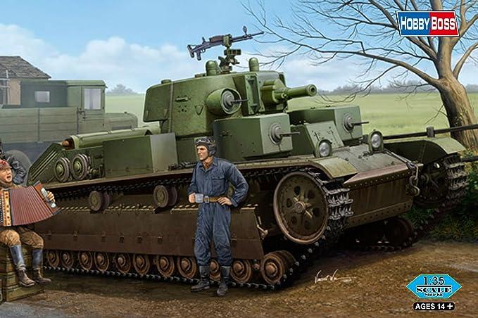 Amazon.co.jp: ホビーボス 83855 1/35 ソビエト T-28 中戦車 円錐砲塔 ...