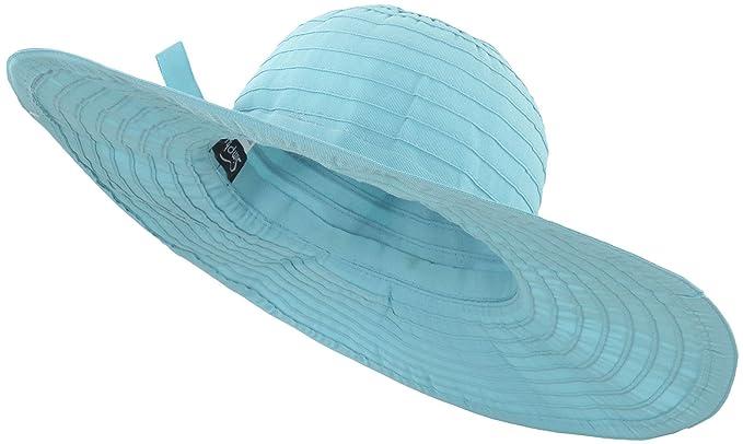 Toppers UV Protection Summer UPF 50+ Wide Brim Womens Sun Hat Beach Hat Aqua f7a514500f94