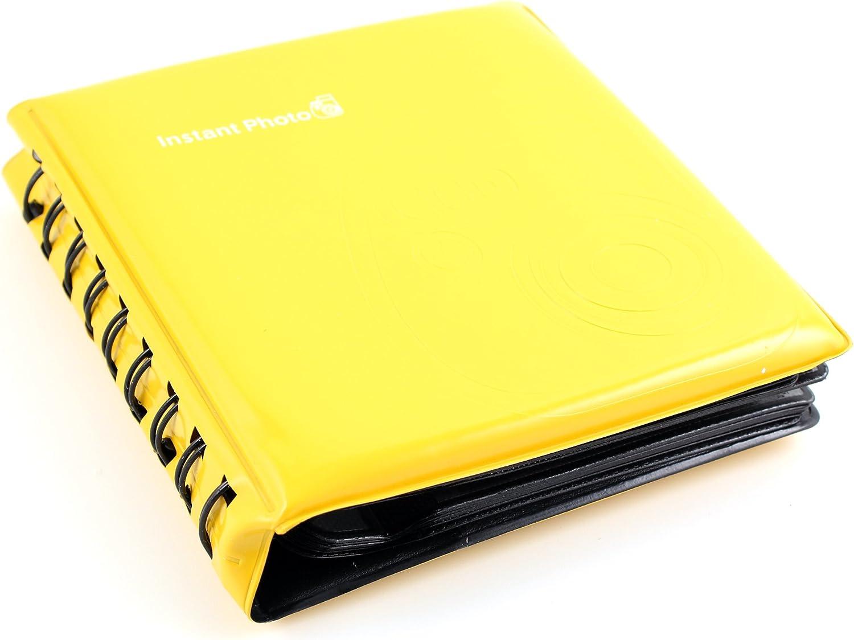 64 Pockets Polaroid Photo Album for Fuji Instax Mini mini90 7s 8 25 50s Yellow