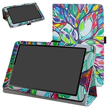 low priced 03064 a7aed Huawei MediaPad T3 7 Case,Mama Mouth PU Leather Folio 2-folding Stand Cover  with Stylus Holder for 7.0