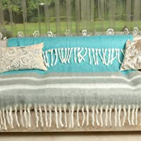 Young Arc Three Tone Turquoise Throw