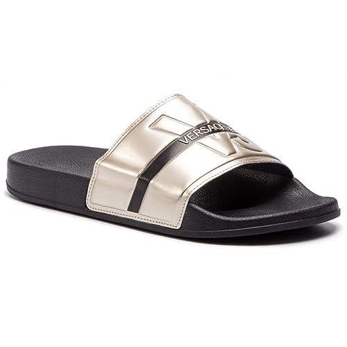 d68fd0b66d2 Chancla VERSACE JEANS Negro Dorado  Amazon.es  Zapatos y complementos